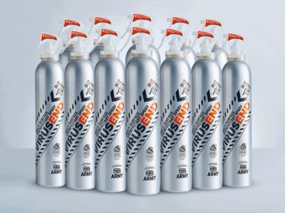 VIRUSEND multi surface disinfectant spray